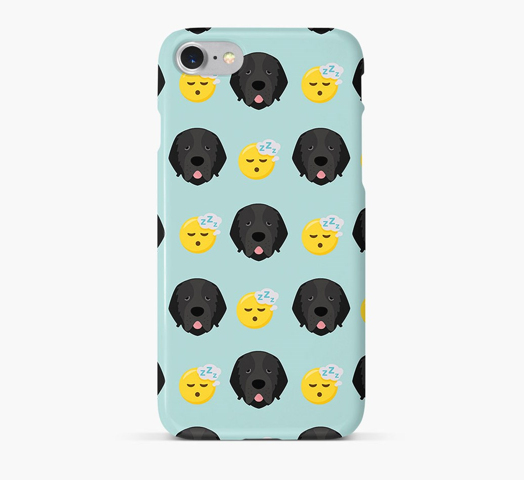 'Tired' Pattern Phone Case with Newfoundland Icon