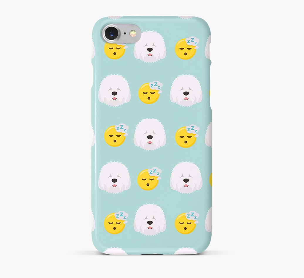 'Tired' Pattern Phone Case with Old English Sheepdog Icon