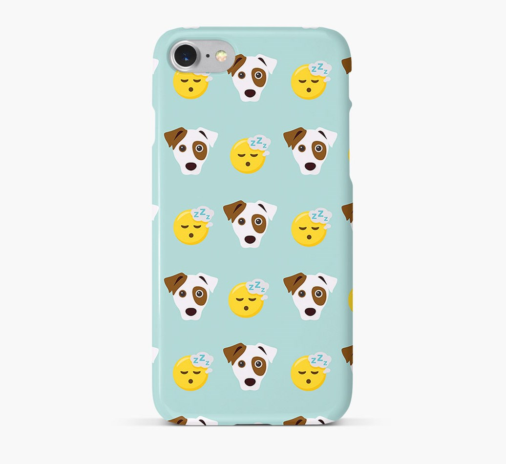 'Tired' Pattern Phone Case with Parson Russell Terrier Icon