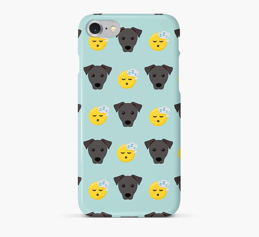 'Tired' Pattern Phone Case with Patterdale Terrier Icon