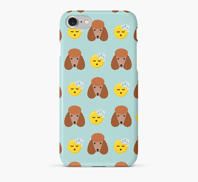 'Tired' Pattern Phone Case with Poodle Icon