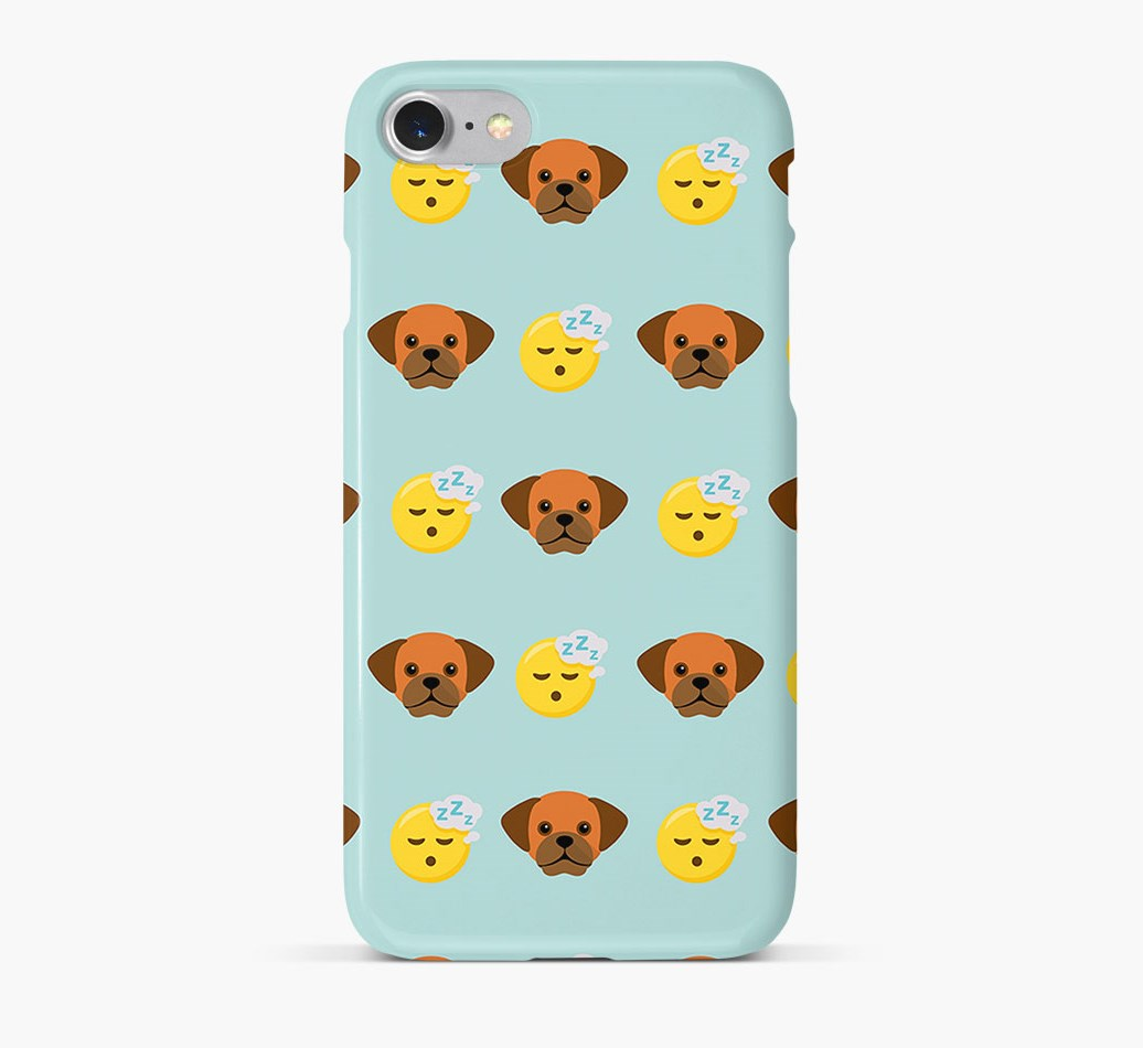 'Tired' Pattern Phone Case with Puggle Icon