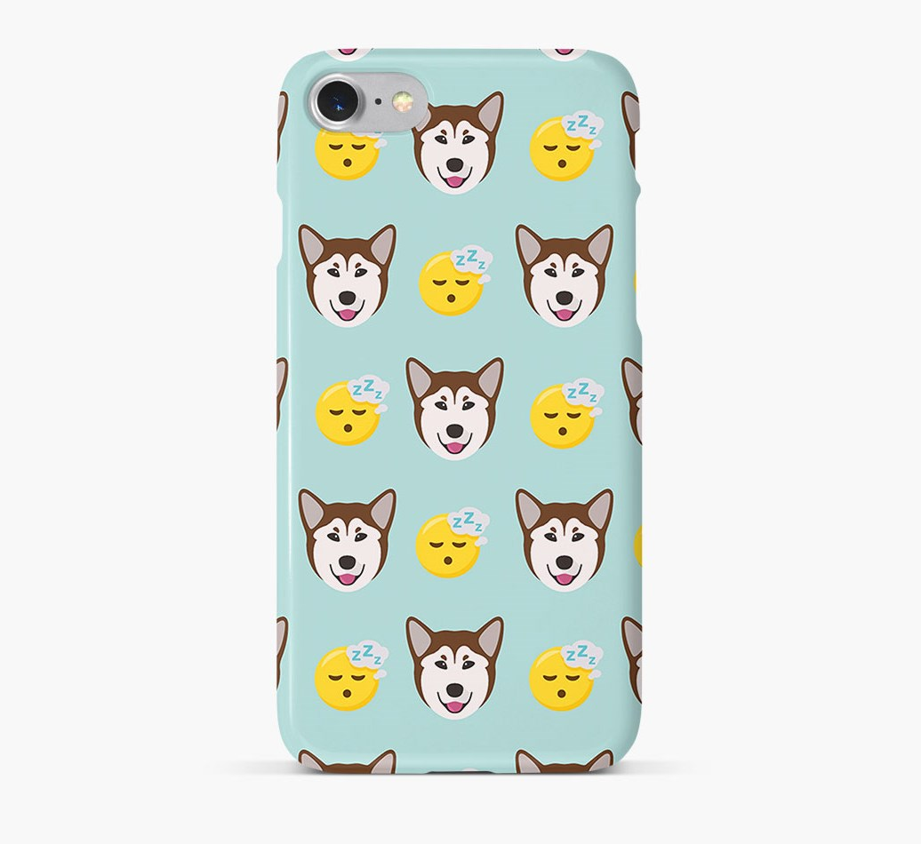'Tired' Pattern Phone Case with Rescue Dog Icon