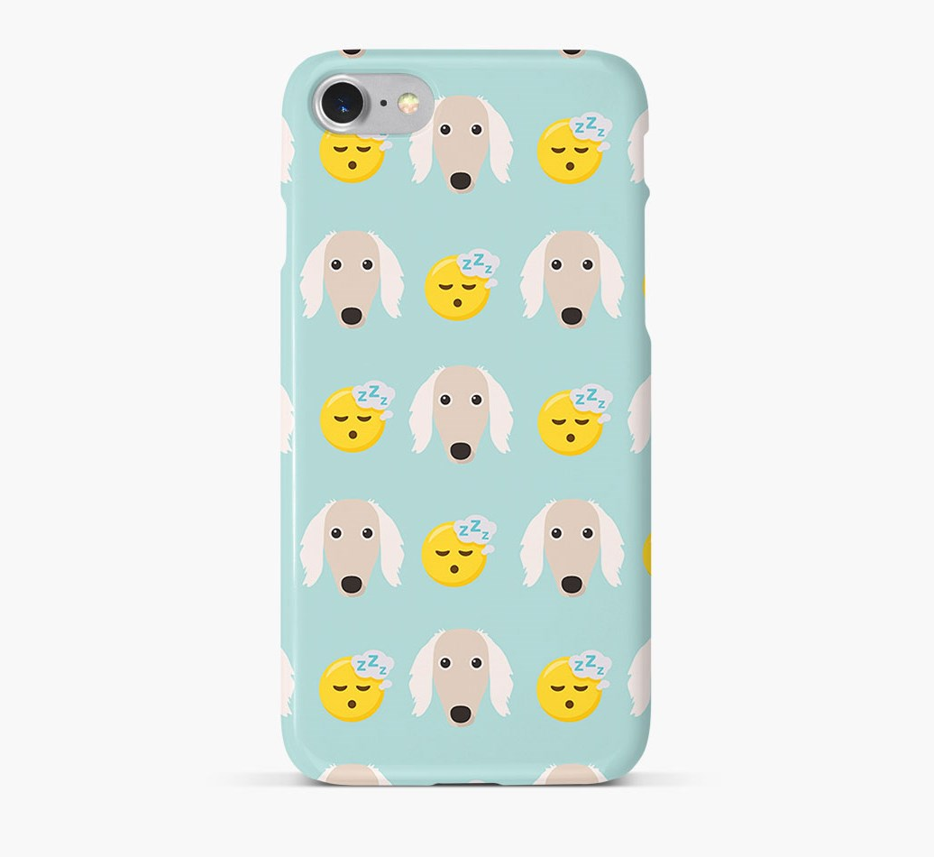 'Tired' Pattern Phone Case with Saluki Icon