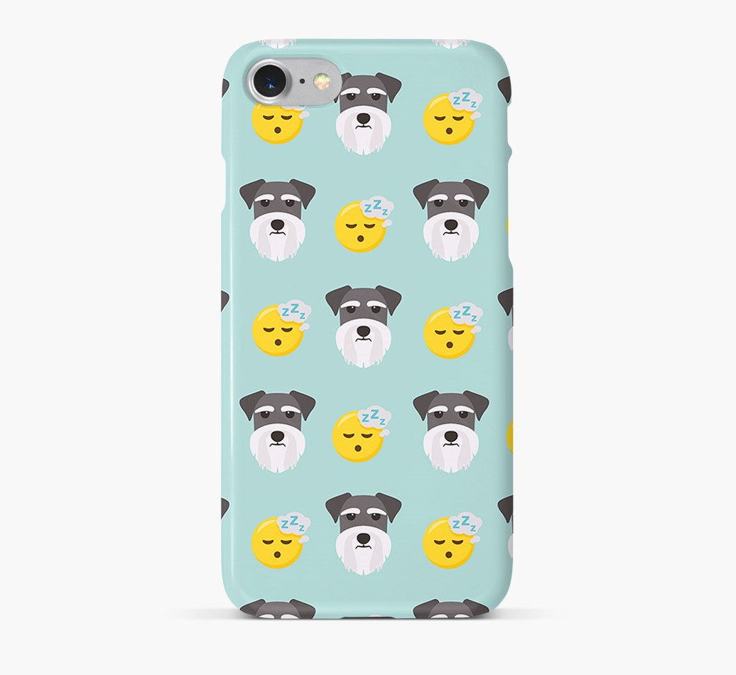 'Tired' Pattern Phone Case with Schnauzer Icon
