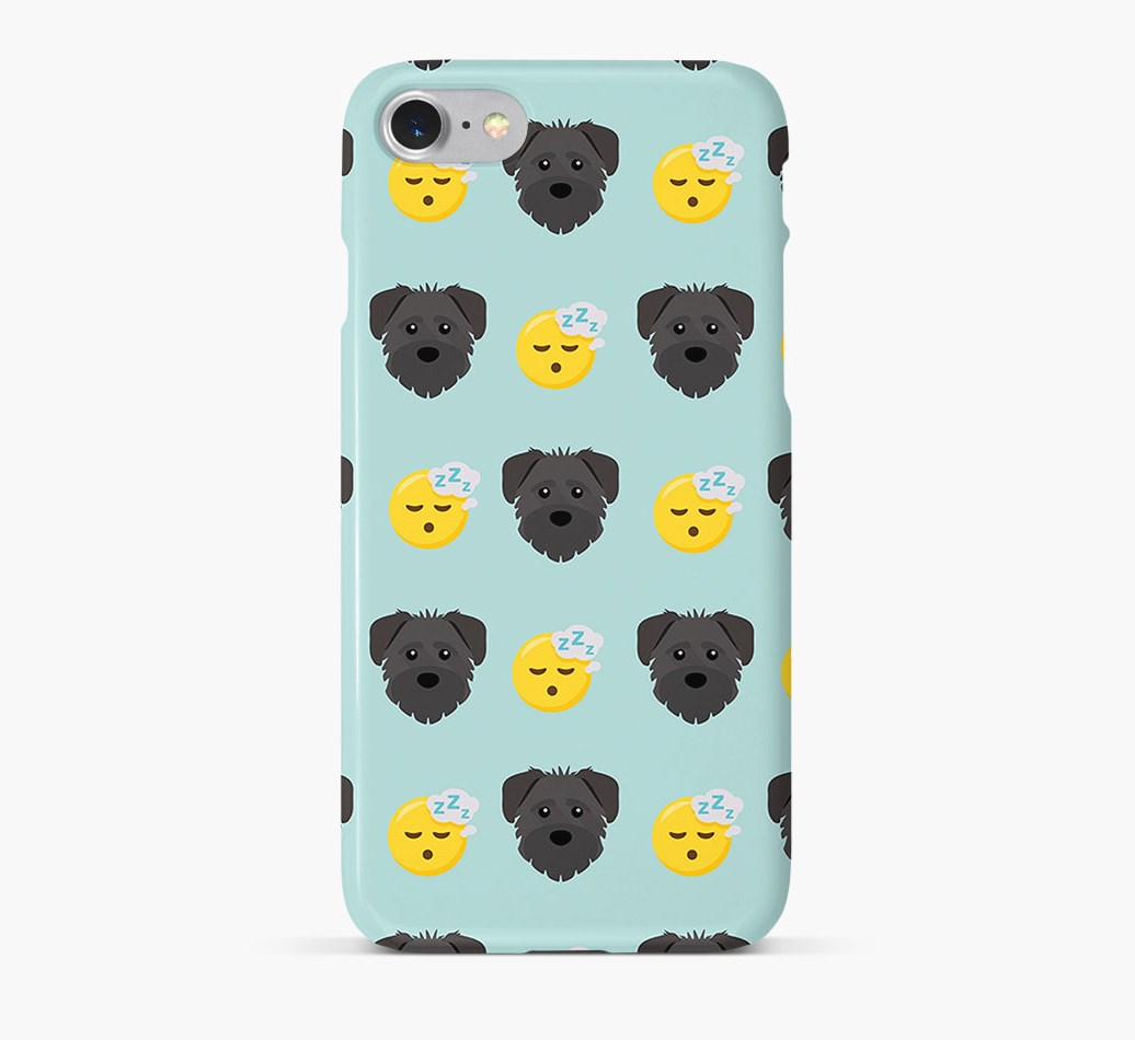 'Tired' Pattern Phone Case with Schnoodle Icon