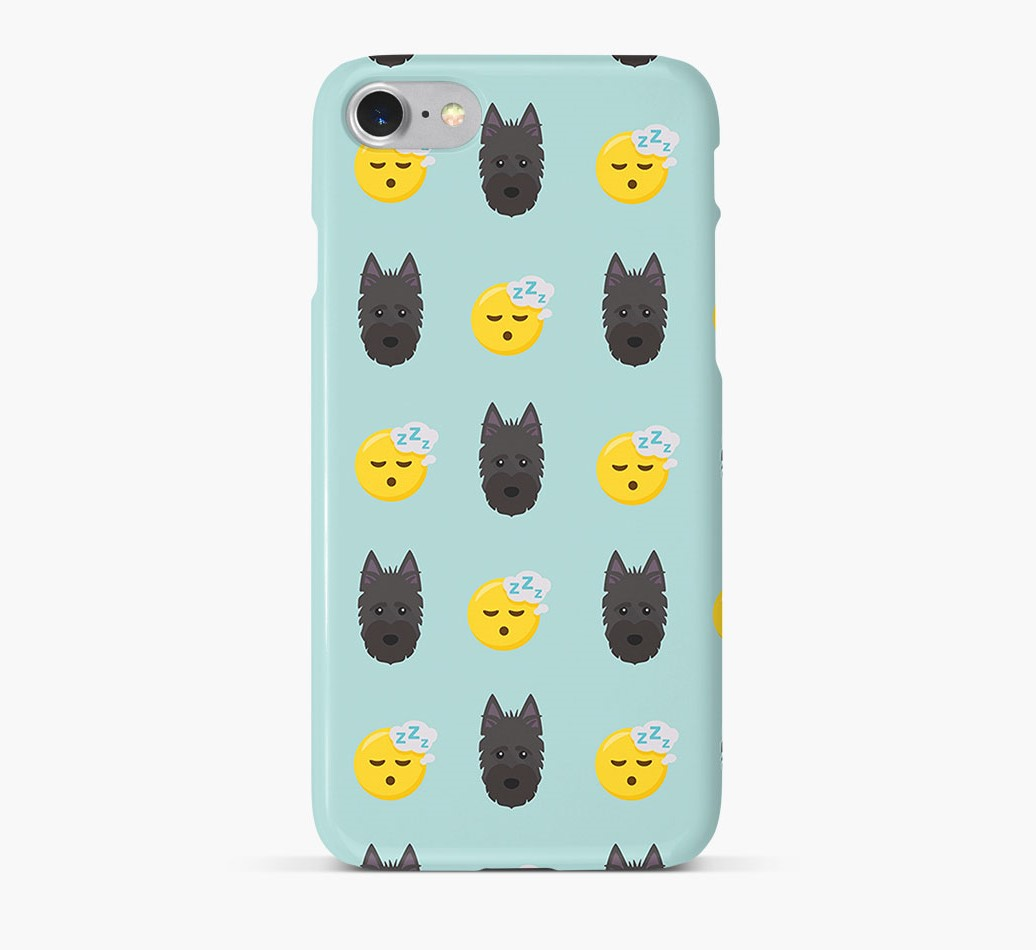 'Tired' Pattern Phone Case with Scottish Terrier Icon