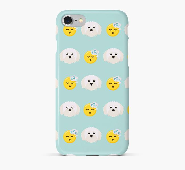 'Tired' Pattern Phone Case with Shih-poo Icon