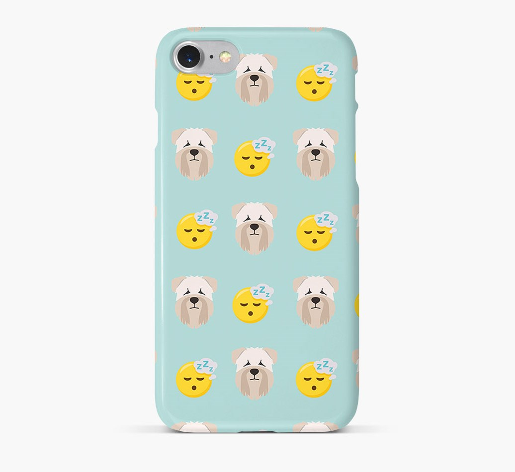 'Tired' Pattern Phone Case with Soft Coated Wheaten Terrier Icon