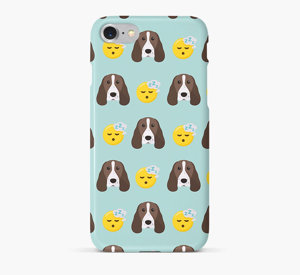 'Tired' Pattern Phone Case with Springer Spaniel Icon