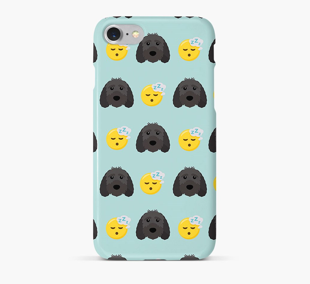'Tired' Pattern Phone Case with Sproodle Icon