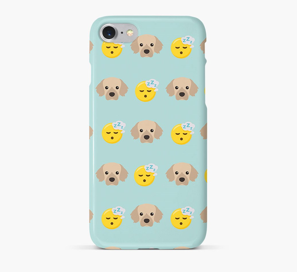 'Tired' Pattern Phone Case with Tibetan Spaniel Icon