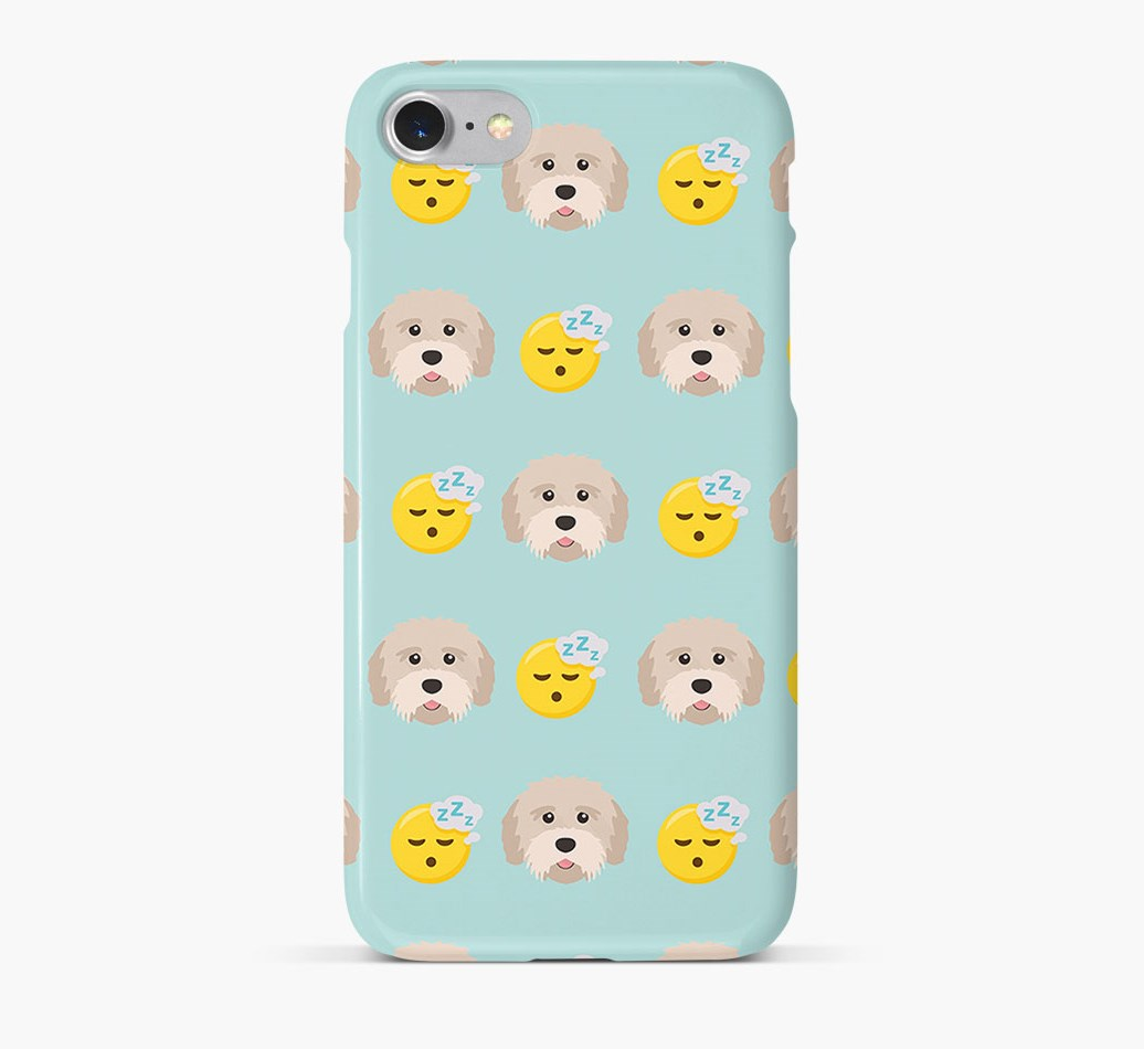 'Tired' Pattern Phone Case with Tibetan Terrier Icon
