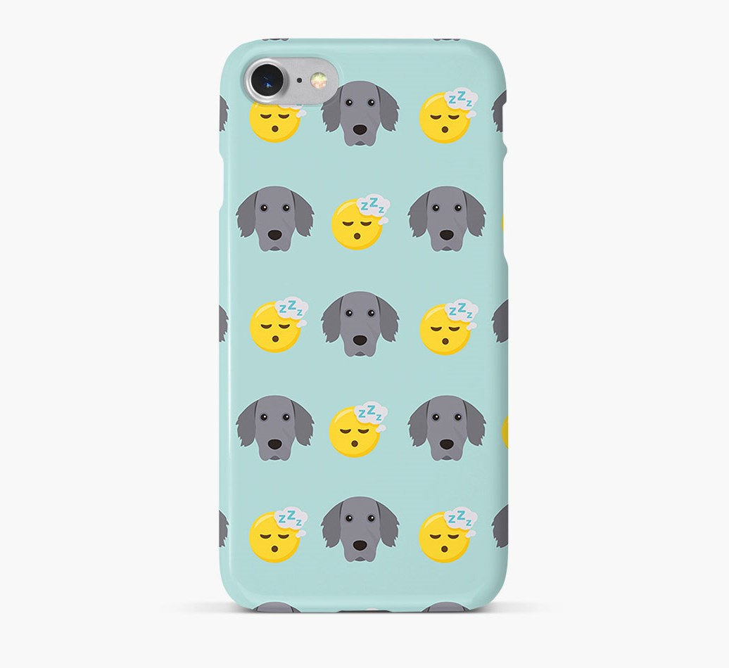 'Tired' Pattern Phone Case with Weimaraner Icon