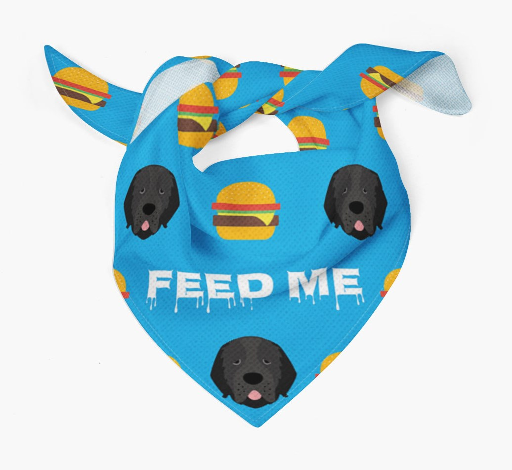 'Feed Me' Burgers Bandana with Newfoundland Icons