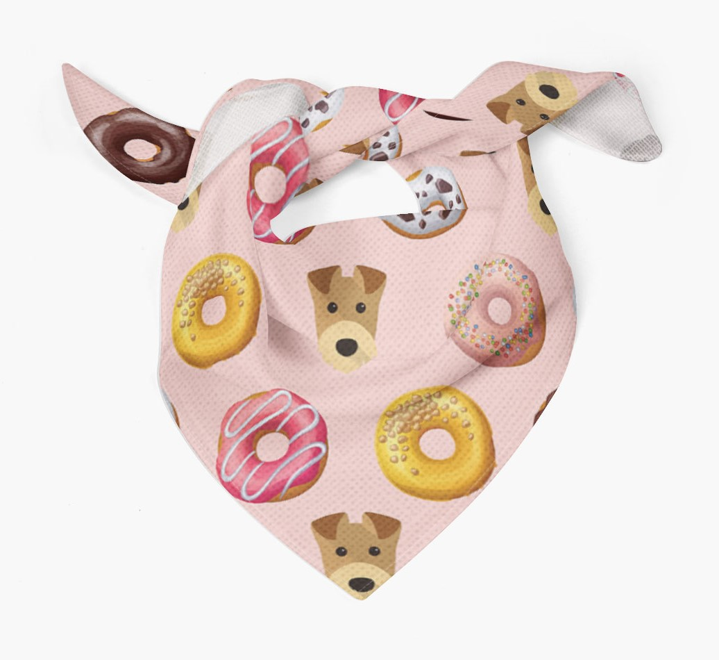 Donuts Bandana with Airedale Terrier Icons