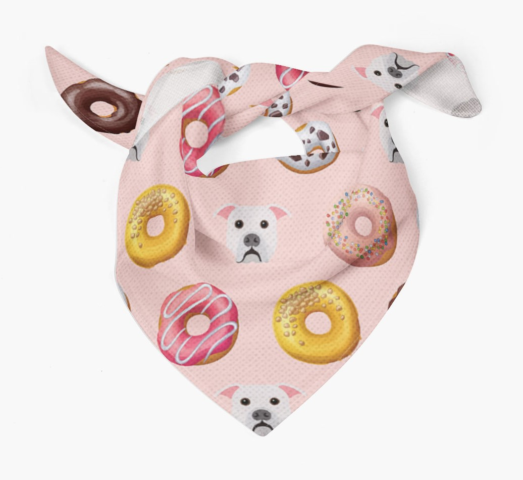 Donuts Bandana with American Bulldog Icons