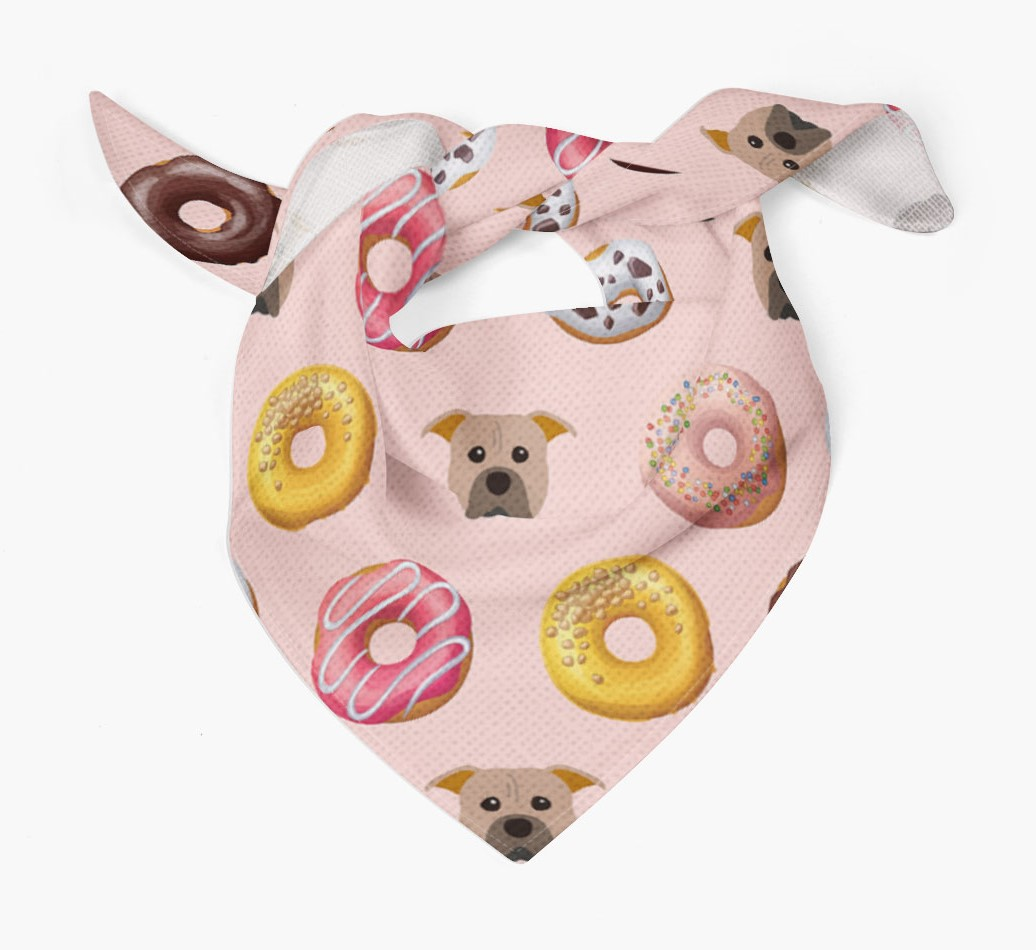 Donuts Bandana with American Pit Bull Terrier Icons