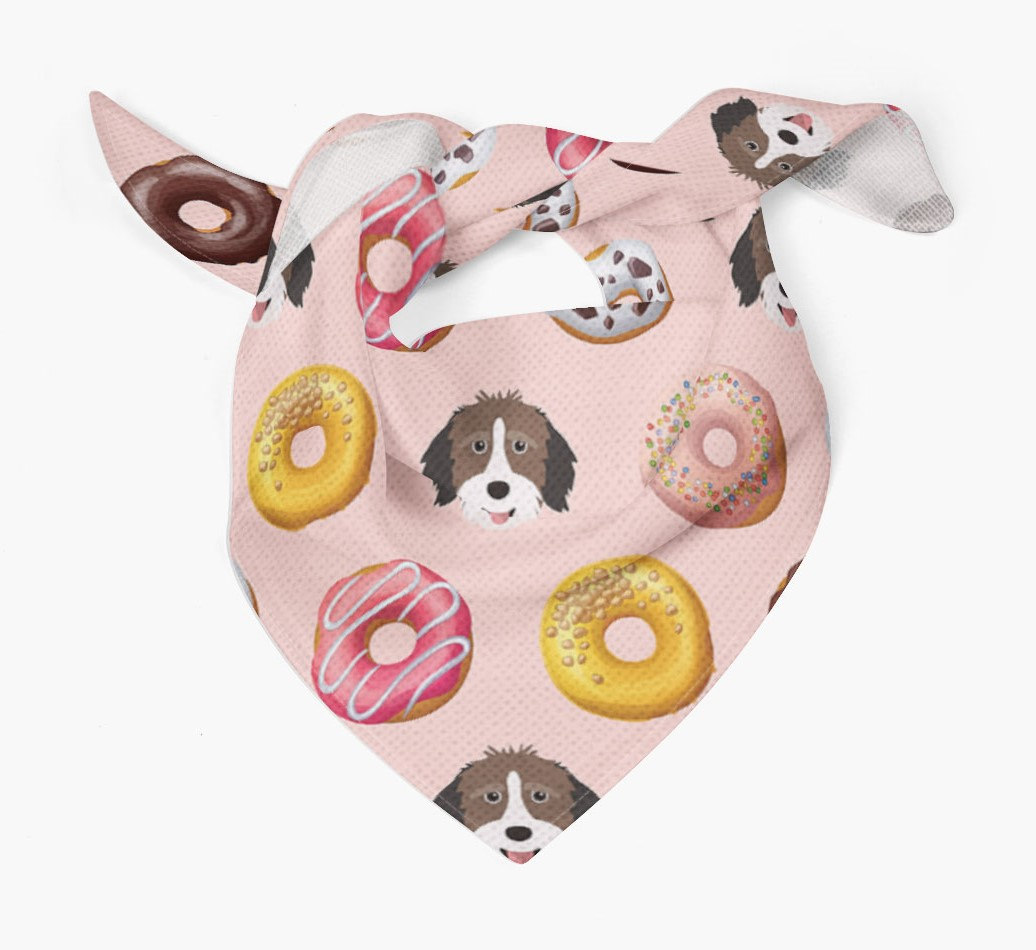 Donuts Bandana with Aussiedoodle Icons