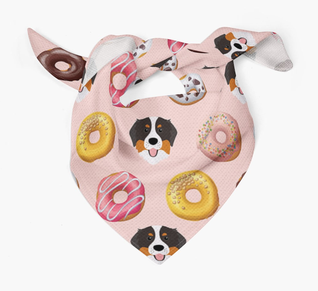 Donuts Bandana with Bernese Mountain Dog Icons