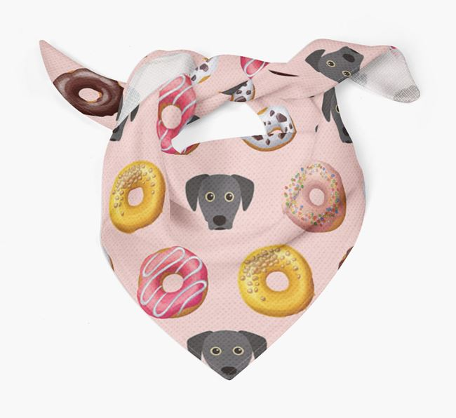 Donuts Bandana with Blue Lacy Icons