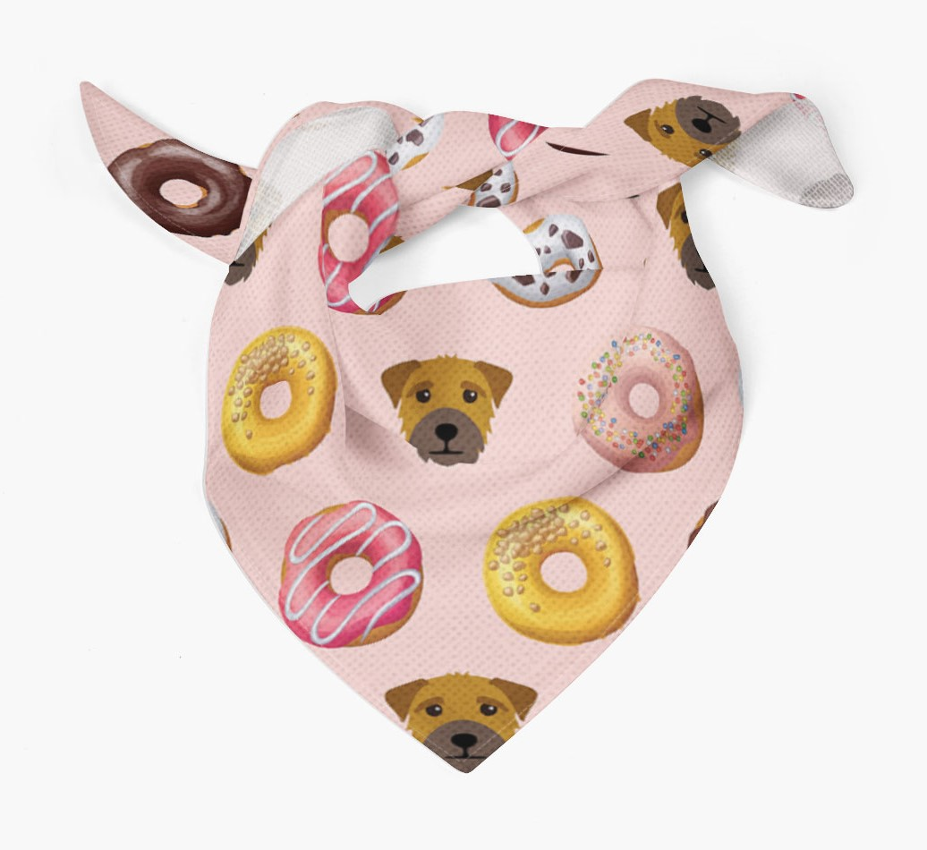 Donuts Bandana with Border Terrier Icons