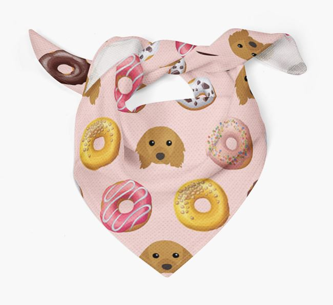 Donuts Bandana with Cavalier King Charles Spaniel Icons