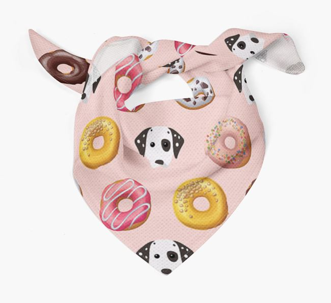 Donuts Bandana with Dog Icons