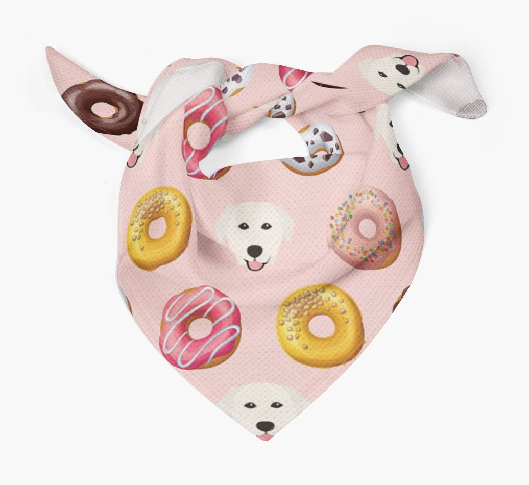 Donuts Bandana with Golden Labrador Icons