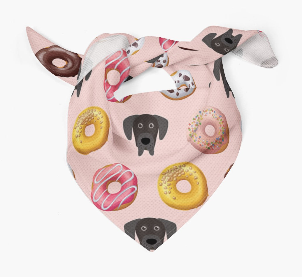 Donuts Bandana with Great Dane Icons