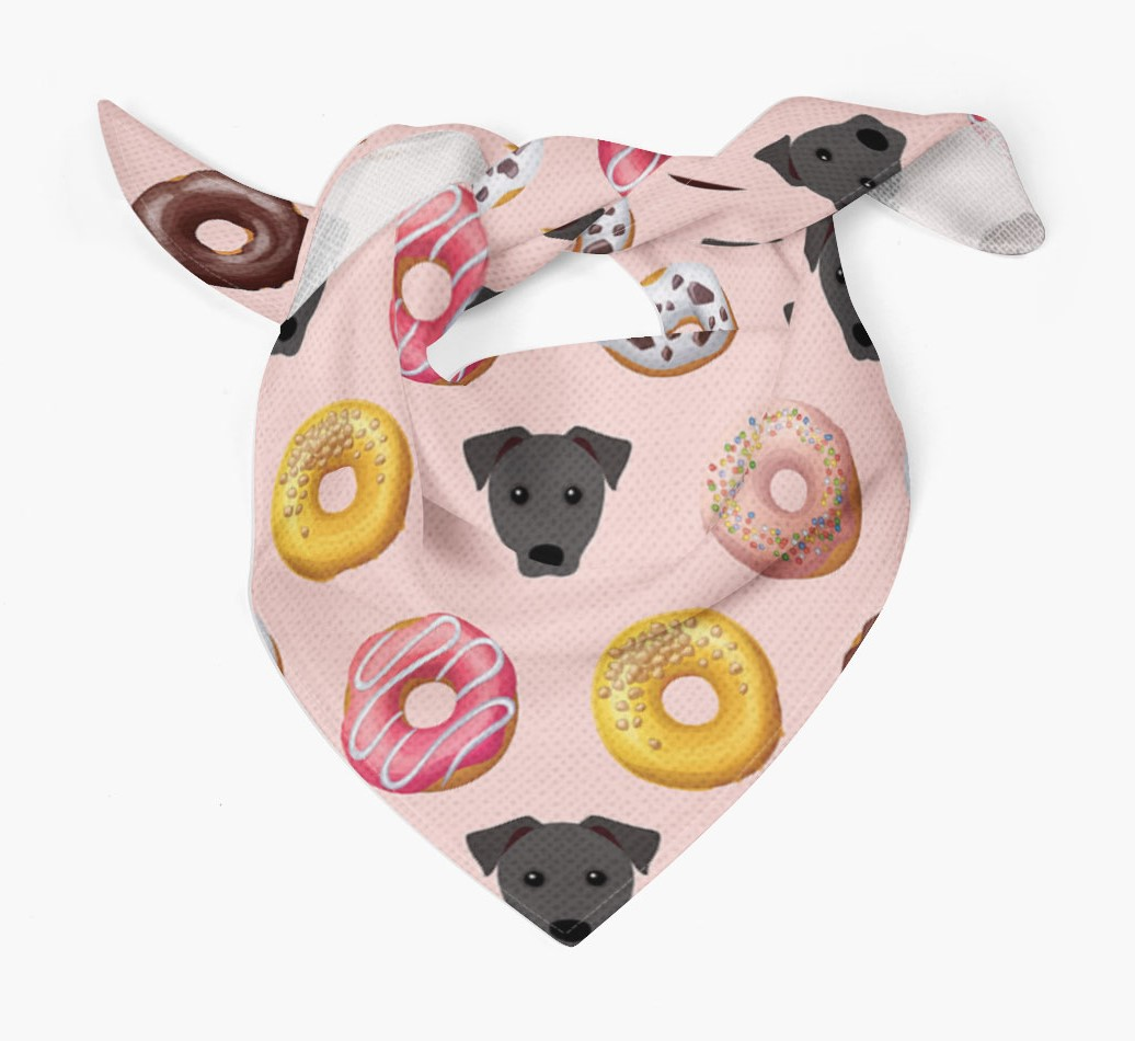 Donuts Bandana with Patterdale Terrier Icons