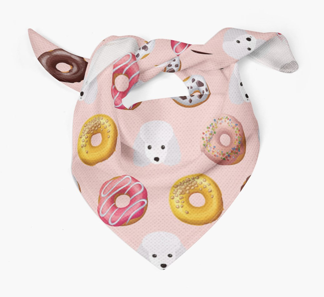 Donuts Bandana with Toy Poodle Icons