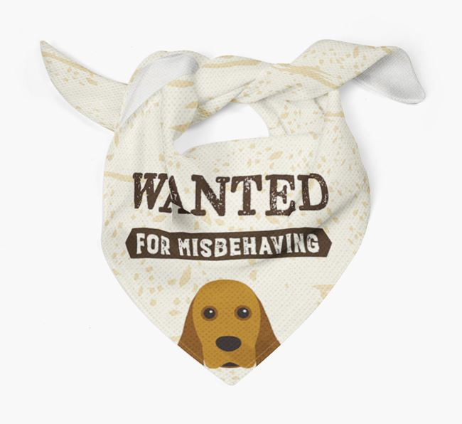 'Wanted for Misbehaving' Bandana with American Cocker Spaniel Icon