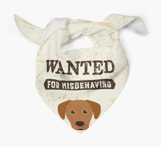 'Wanted for Misbehaving' Bandana with Blue Lacy Icon