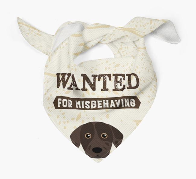 'Wanted for Misbehaving' Bandana with Catahoula Leopard Dog Icon