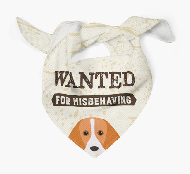 'Wanted for Misbehaving' Bandana with Harrier Icon