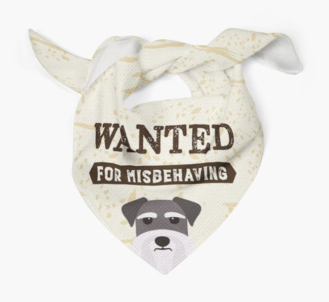 'Wanted for Misbehaving' Bandana with Dog Icon