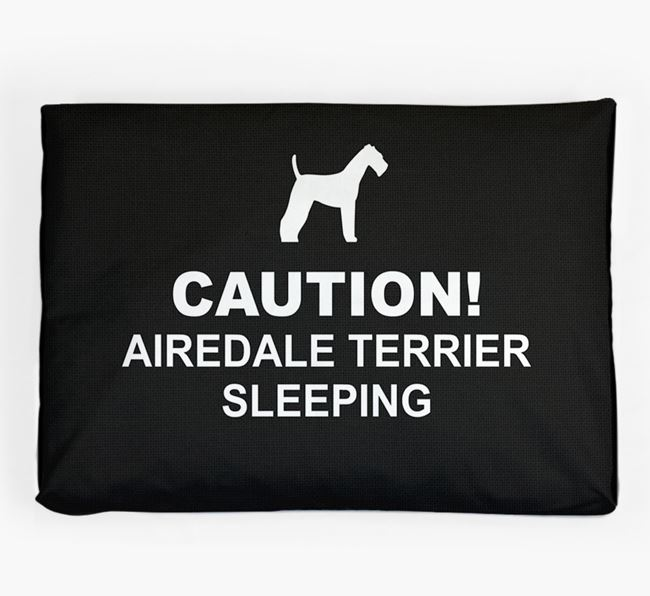 'Caution!' Dog Bed for your Airedale Terrier