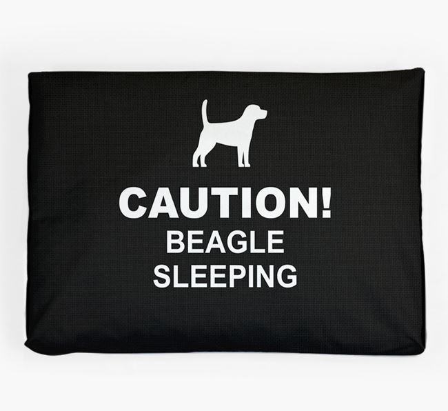'Caution!' Dog Bed for your Beagle