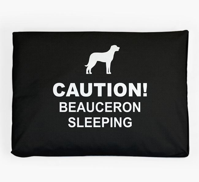 'Caution!' Dog Bed for your Beauceron