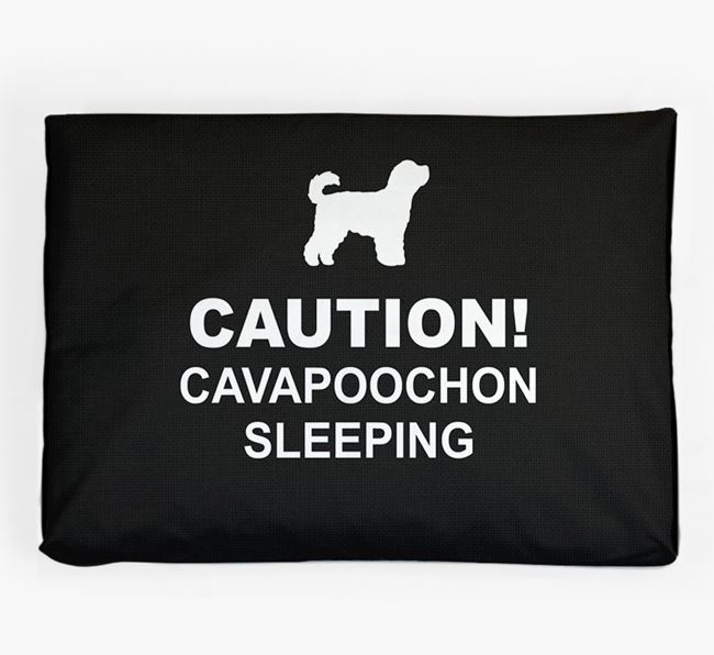 'Caution!' Dog Bed for your Cavapoochon