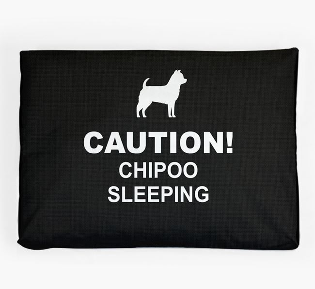 'Caution!' Dog Bed for your Chipoo