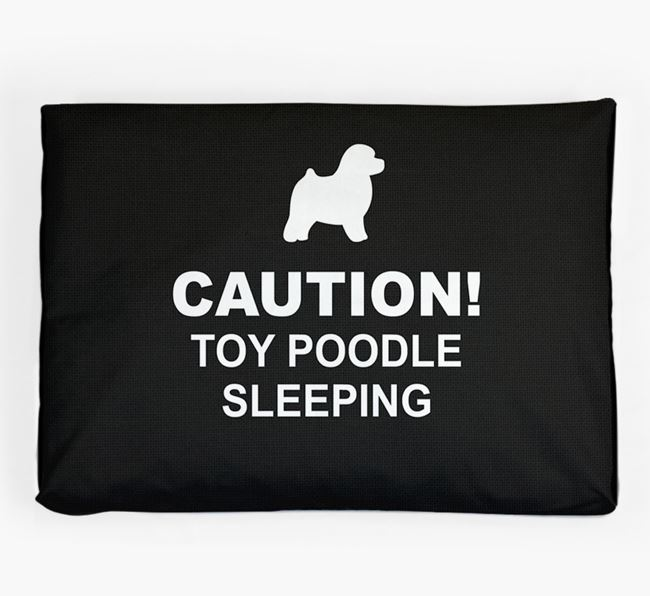 'Caution!' Dog Bed for your Toy Poodle