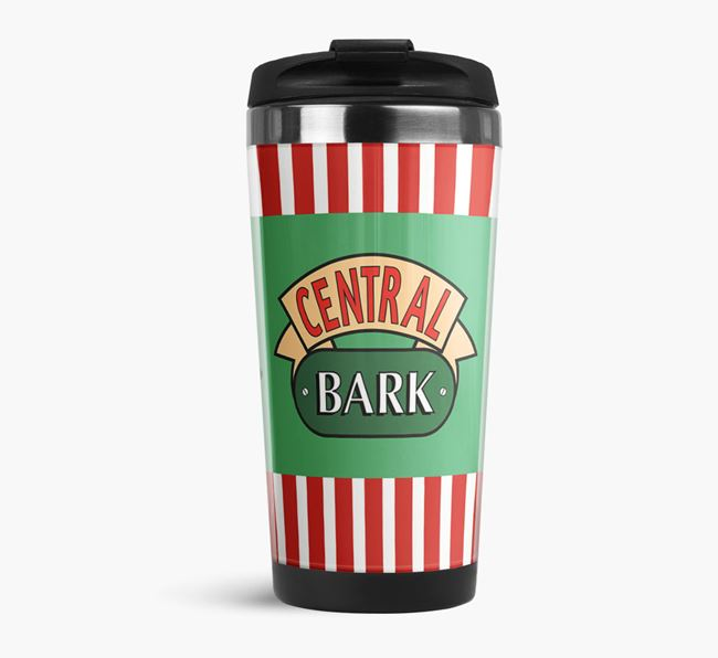 'Central Bark' Travel Flask with German Shorthaired Pointer Icon