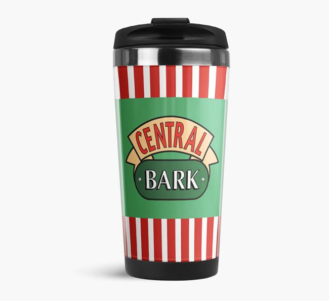 'Central Bark' Travel Flask with Pugapoo Icon