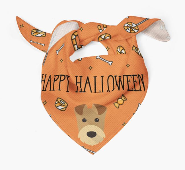 'Happy Halloween' Bandana for your Airedale Terrier
