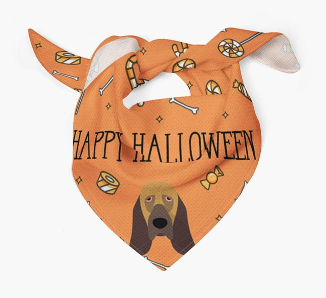 'Happy Halloween' Bandana for your Bloodhound