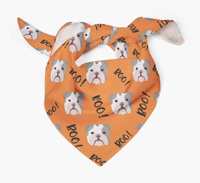 'Boo!' Bandana for your English Bulldog