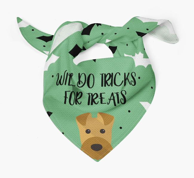 'Tricks for Treats' Bandana for your Airedale Terrier