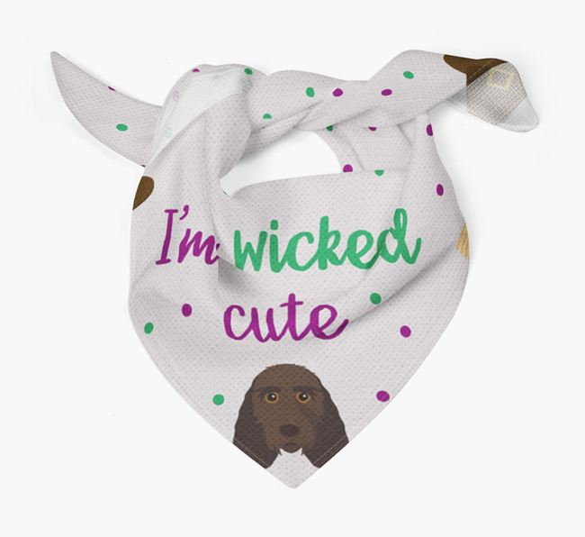 'I'm Wicked Cute' Bandana for your Grand Basset Griffon Vendeen
